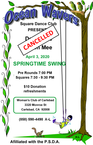 CANCELLED Springtime Swing 2020